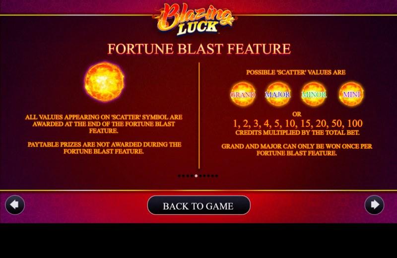 Blazing Luck :: Fortune Blast Feature