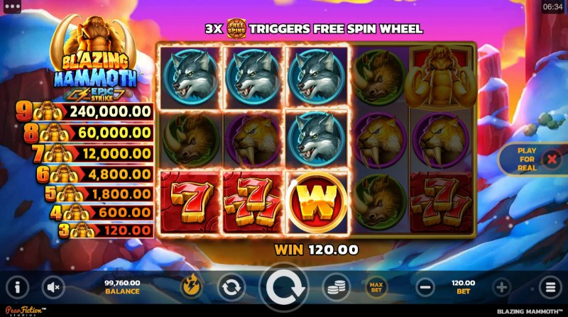 Blazing Mammoth Epic Strike :: Multiple winning paylines