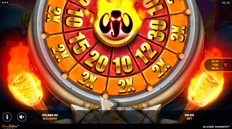 Blazing Mammoth Epic Strike :: Spin the wheel to determine the free spins and multiplier