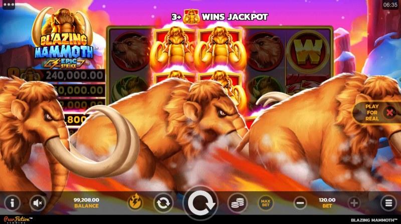 Blazing Mammoth Epic Strike :: Jackpot Win