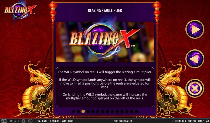 Blazing X :: Multiplier Rules