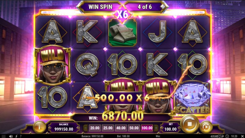 Blinged :: Multiple winning paylines
