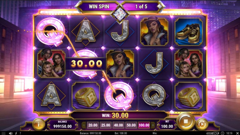 Blinged :: Free Spins Game Board