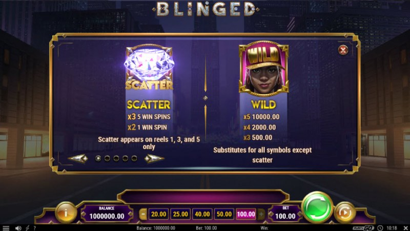 Blinged :: Wild and Scatter Rules
