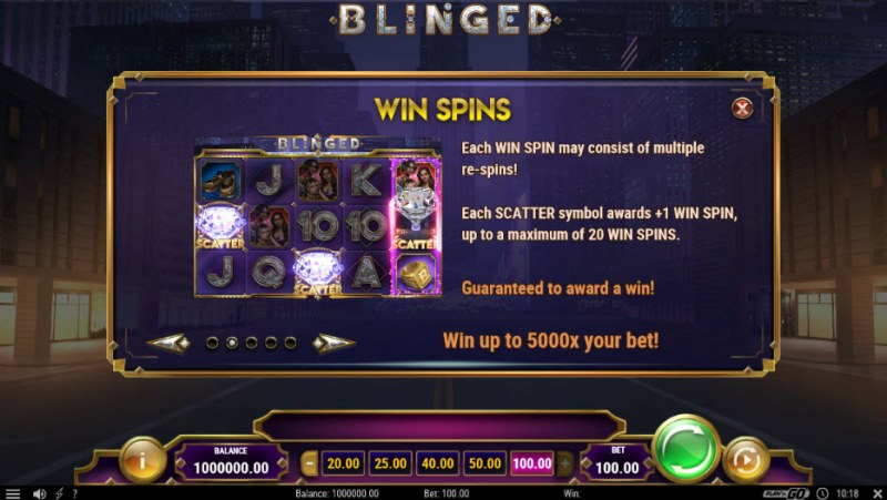 Blinged :: Free Spins Rules