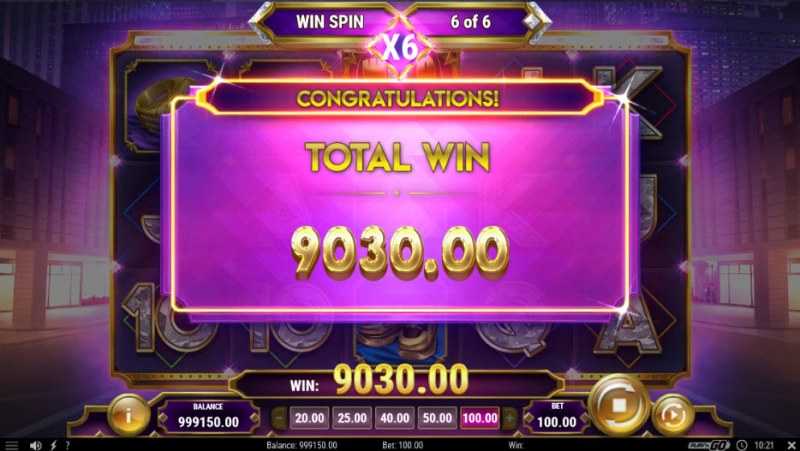 Blinged :: Total free spins payout