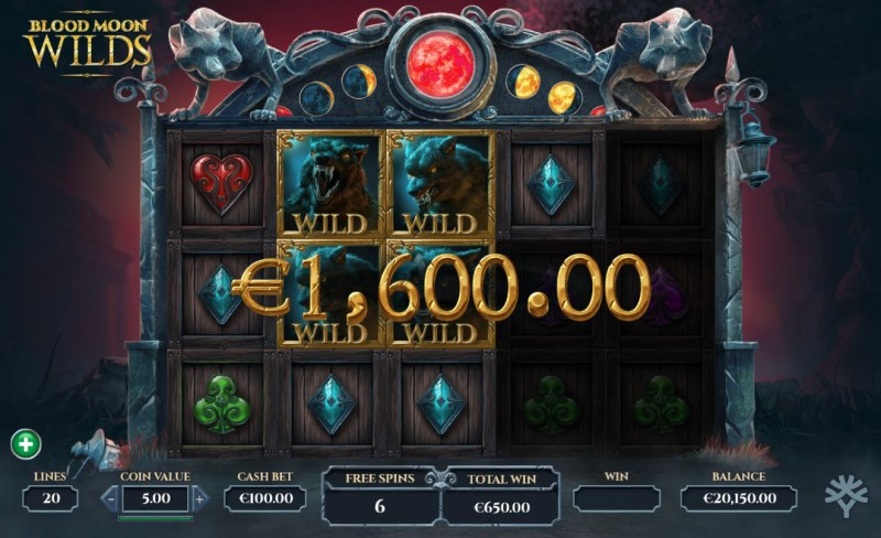 Blood Moon Wilds :: Multiple winning paylines