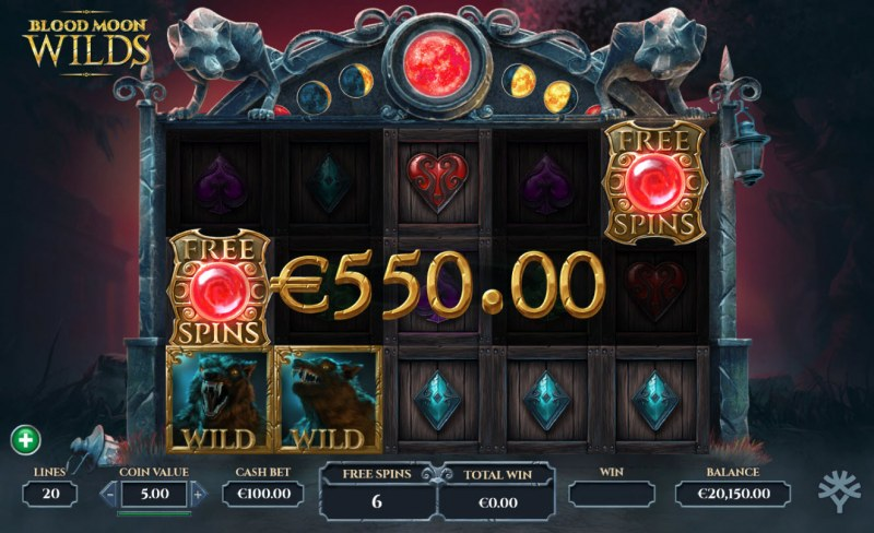 Blood Moon Wilds :: Free Spins Game Board