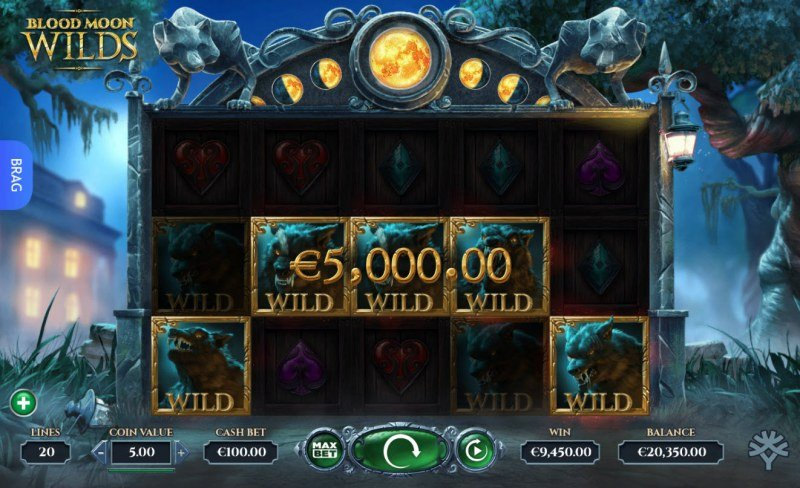 Blood Moon Wilds :: Multiple winning combinations leads to a super win