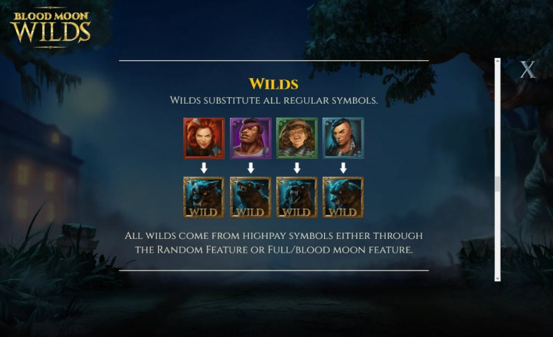 Blood Moon Wilds :: Wild Symbols Rules