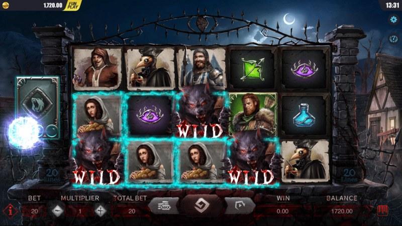 Blood Wolf Legend :: Multiple winning paylines