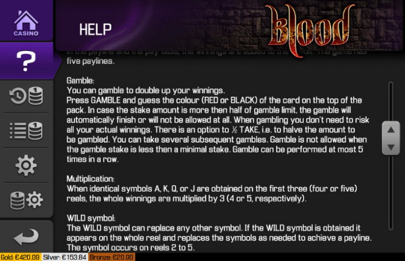 Blood :: General Game Rules