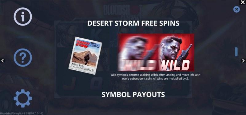 Bloodshot Rising Spirit :: Desert Storm Free Spins