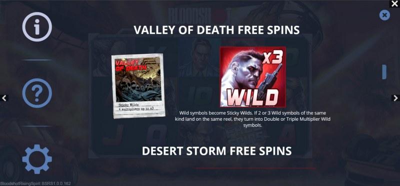Bloodshot Rising Spirit :: Valley of Death Free Spins