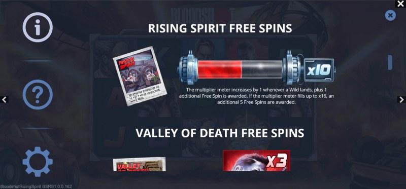 Bloodshot Rising Spirit :: Rising Spirit Free Spins