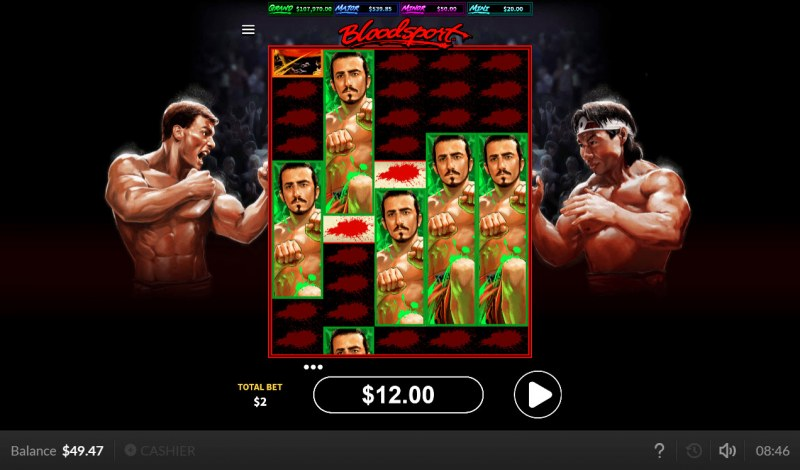 Bloodsport :: Multiple winning combinations leads to a big win