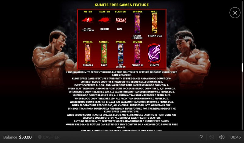 Bloodsport :: Free Spins Rules