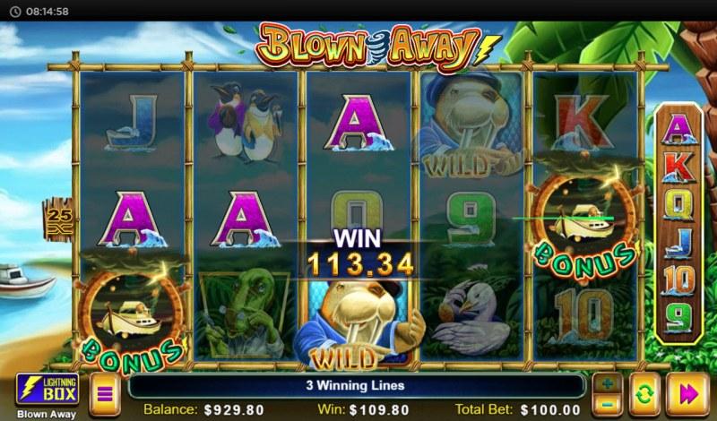 Blown Away :: Multiple winning paylines