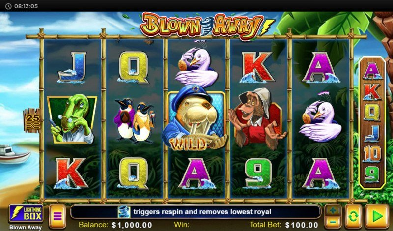 Play slots at Casino Superlines: Casino Superlines featuring the Video Slots Blown Away with a maximum payout of $22, 610