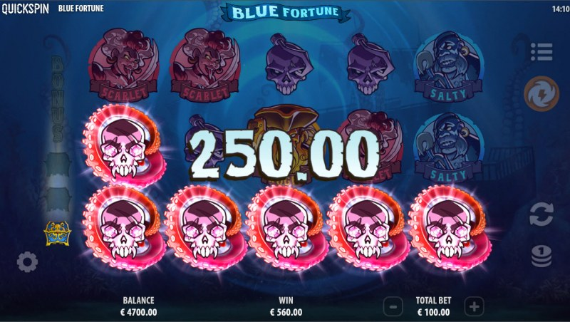 Blue Fortune :: A five of a kind win