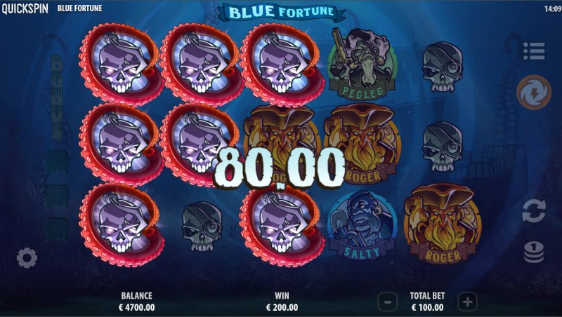 Blue Fortune :: Multiple winning paylines