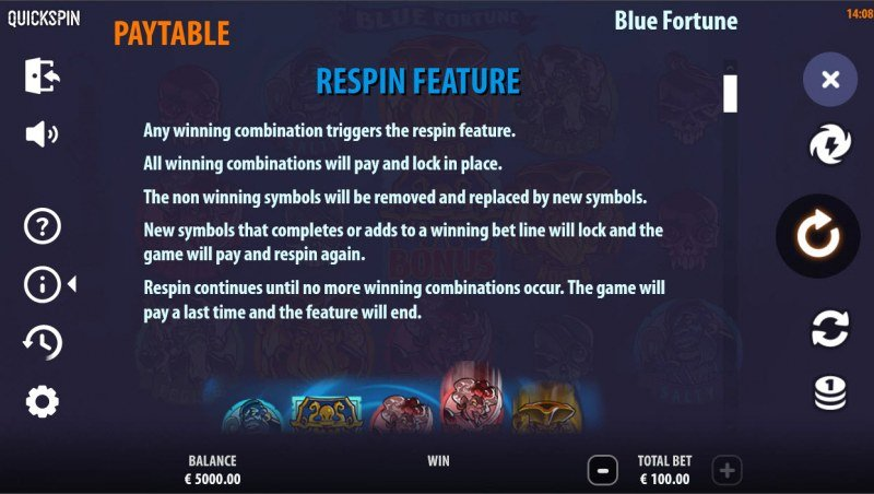Blue Fortune :: Respin Feature