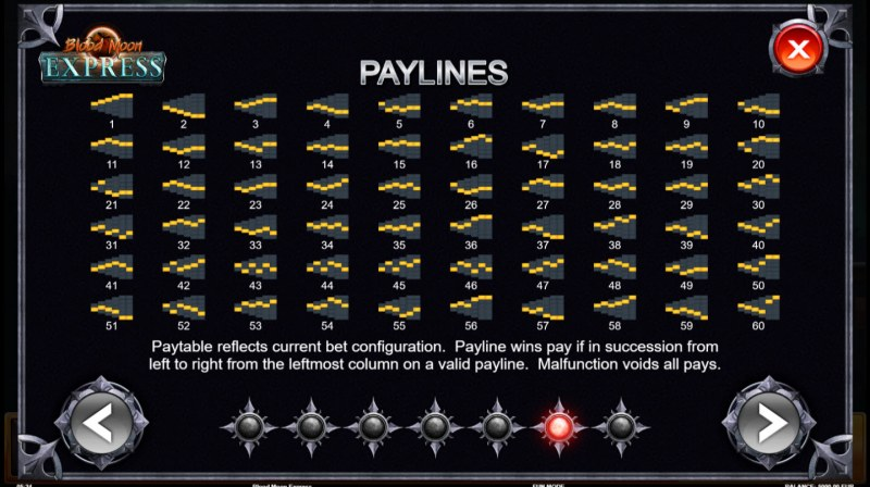 Blue Moon Express :: Paylines 1-60