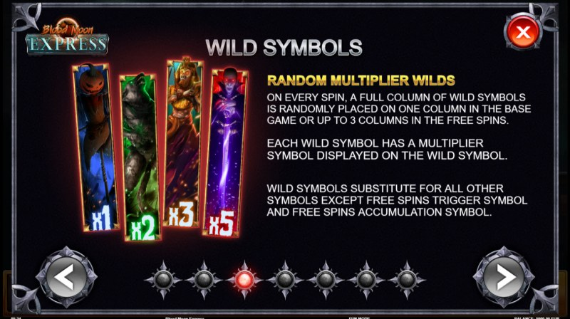 Blue Moon Express :: Random Multiplier Wilds