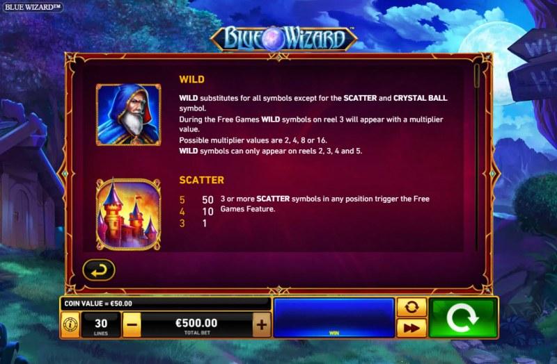 Blue Wizard :: Wild Symbol Rules