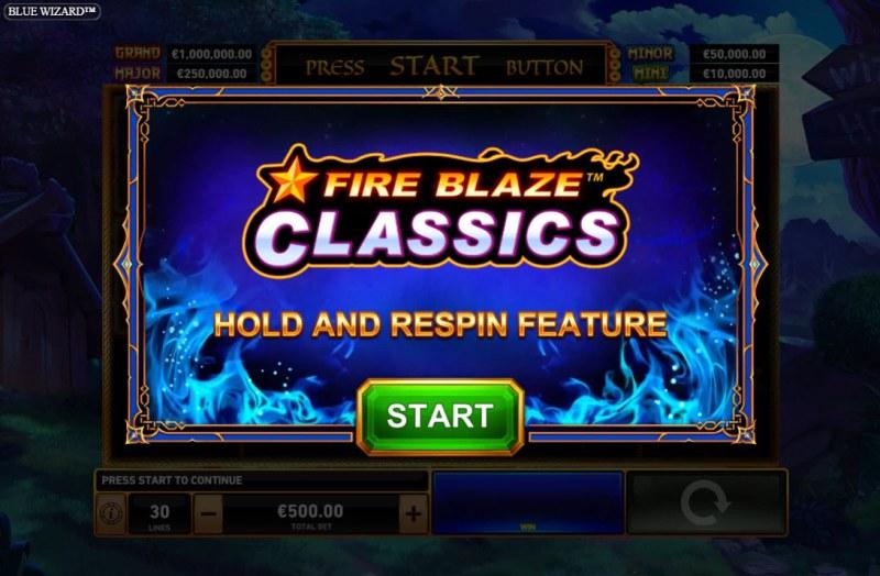 Blue Wizard :: Fire Blaze Respin Feature