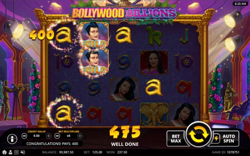 Bollywood Billions :: A four of a kind win