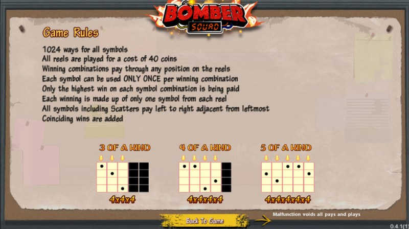 Bomber Squad :: 1024 Ways to Win