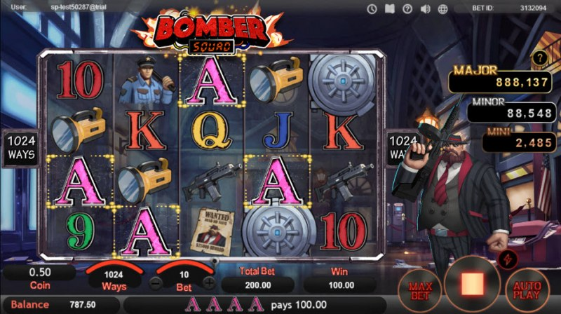 Bomber Squad :: Four of a kind Win