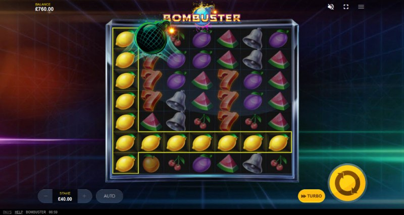 Bombuster :: New symbols drop in place leading to a big win