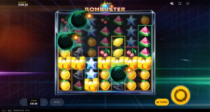 Bombuster :: Multiple winning combinations leads to a big win