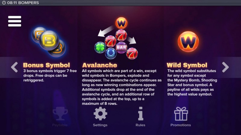 Bompers :: Wild and Scatter Rules
