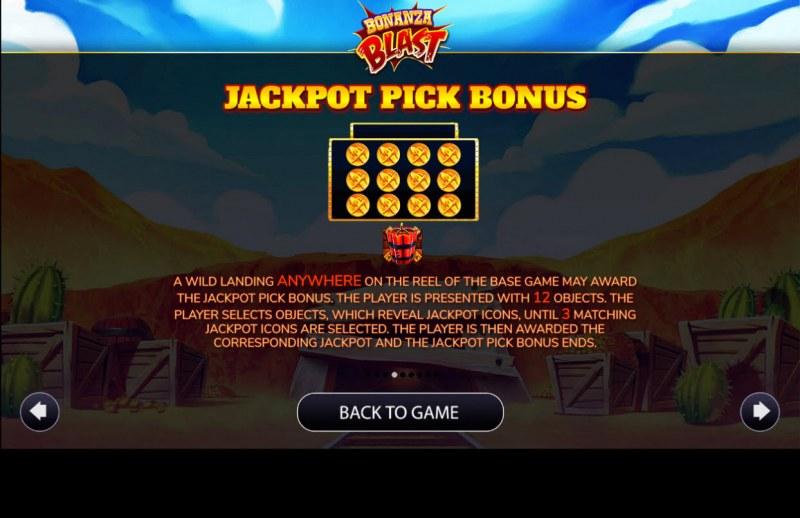 Bonanza Blast :: Jackpot Rules