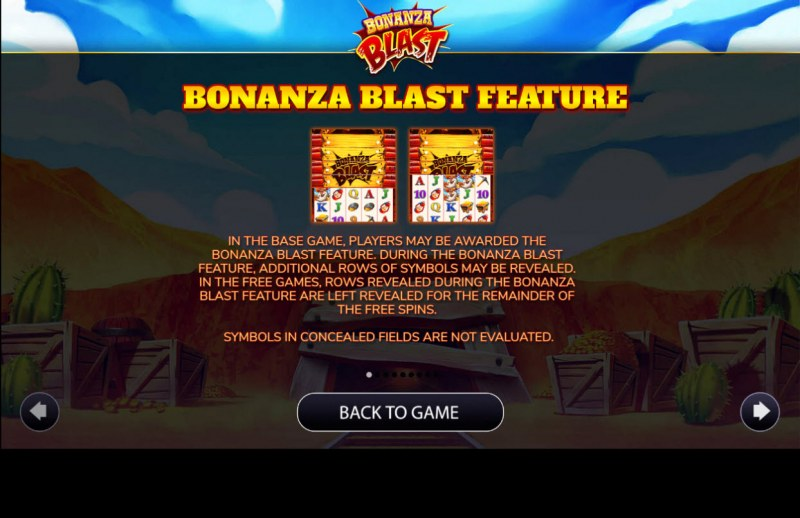 Bonanza Blast :: Feature Rules