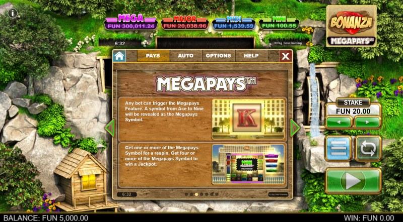 Bonanza Megapays :: Megapays