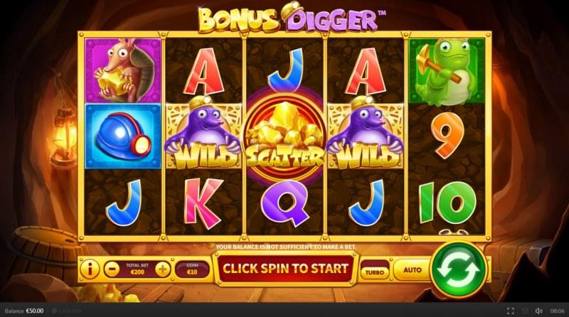 Bonus Digger :: Main Game Board