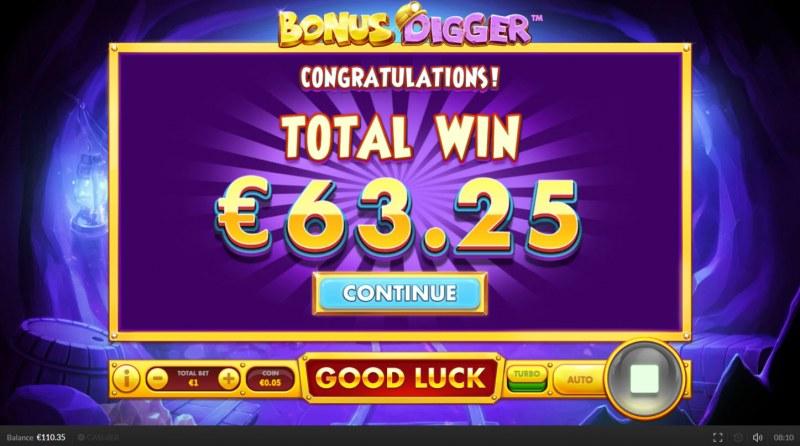 Bonus Digger :: Total free spins payout