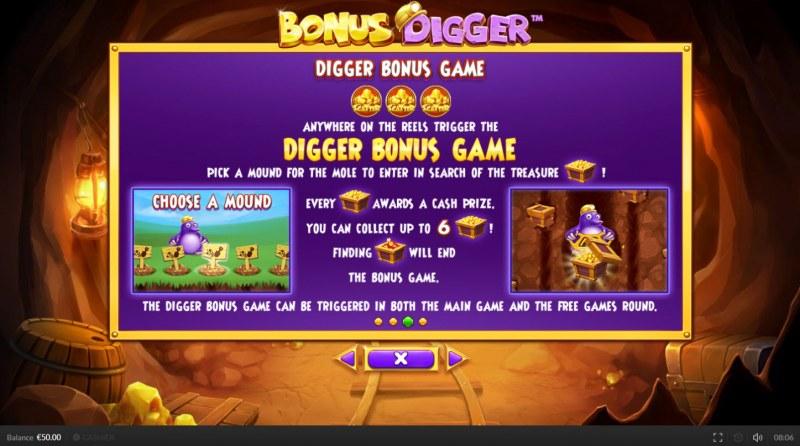 Bonus Digger :: Bonus Game Rules
