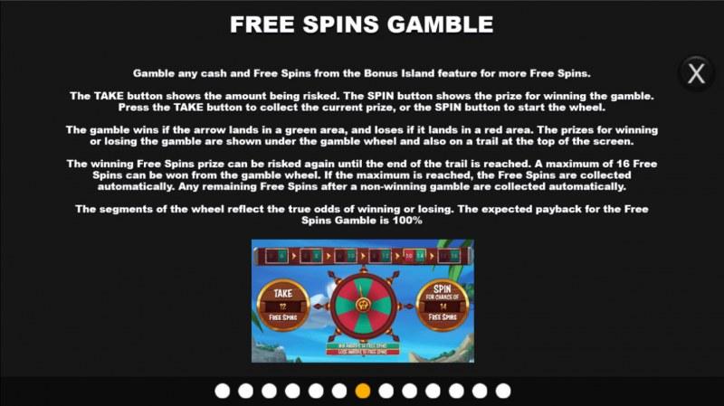 Bonus Island :: Gamble feature