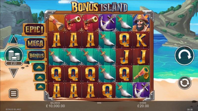 Bonus Island :: Base Game Screen