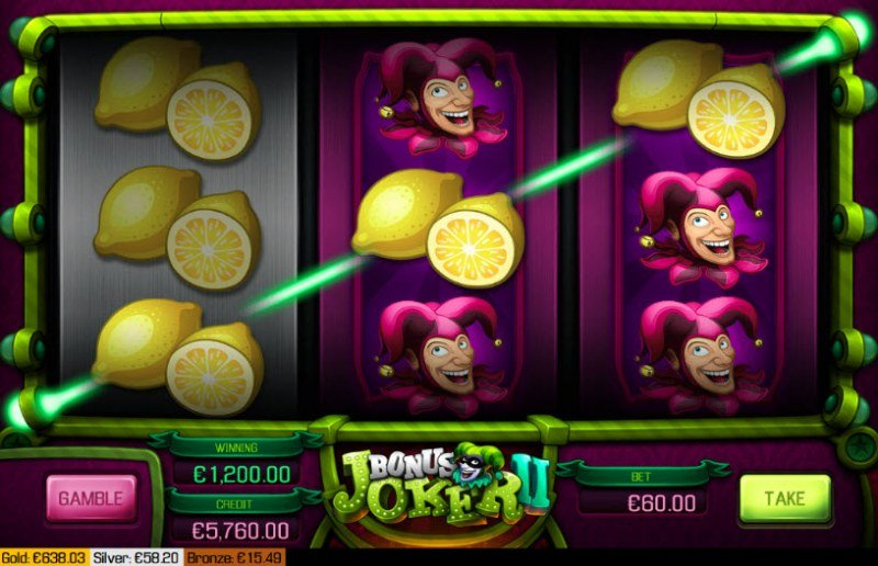 Bonus Joker II :: Multiple winning combinations leads to a big win