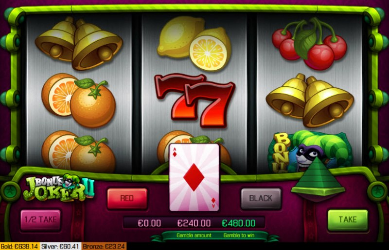 Bonus Joker II :: Red or Black Gamble Feature