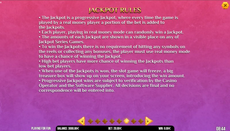 Book of Anime :: Jackpot Rules