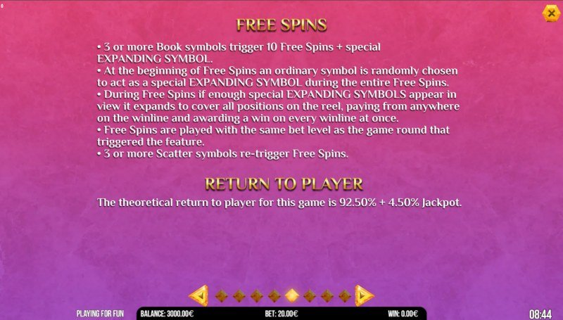Book of Anime :: Free Spin Feature Rules