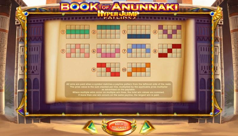 Book of Anunnaki :: Paylines 1-10