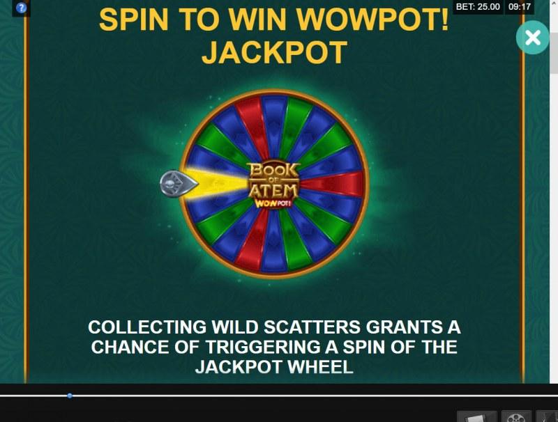 Book of Atem Wow Pot :: Jackpot Rules